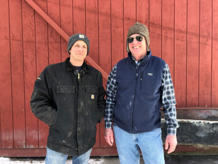 Farmers Sandy and Josh connected through AFT's Hudson Valley Farmlink Network