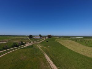 Drone shot of Burroughs Family Farm