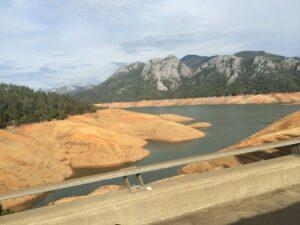 Shasta Lake in 2014 drought